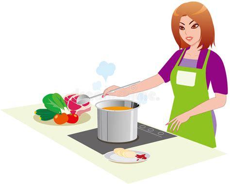 hello fait la cuisine a mulher na cozinha imagem de stock imagem 17036121