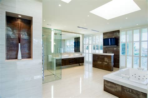 bathroom tv ideas 20 high end luxurious modern master bathrooms