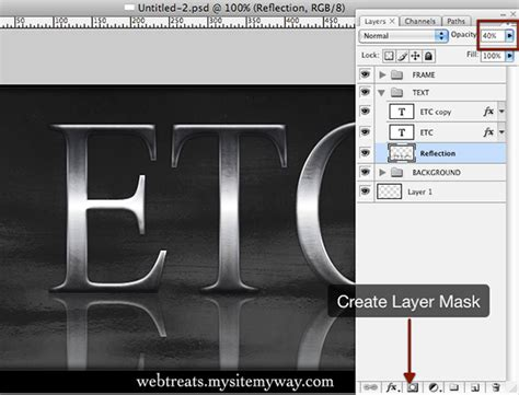 tutorial photoshop reflection effect tutorial brushed silver text effect photoshop graphic