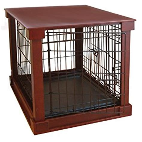 indoor wooden kennel indoor wooden mobile pet cage with crate cover with plastic tray