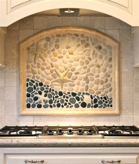 beachy backsplash coastal kitchen backsplash ideas with tiles from