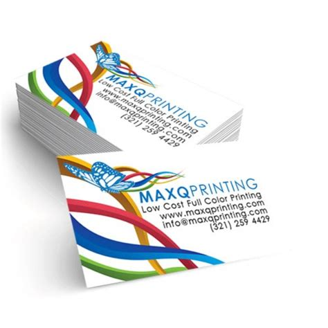 2x3 5 business card template color printing buy 2x3 5 18pt c1s business cards