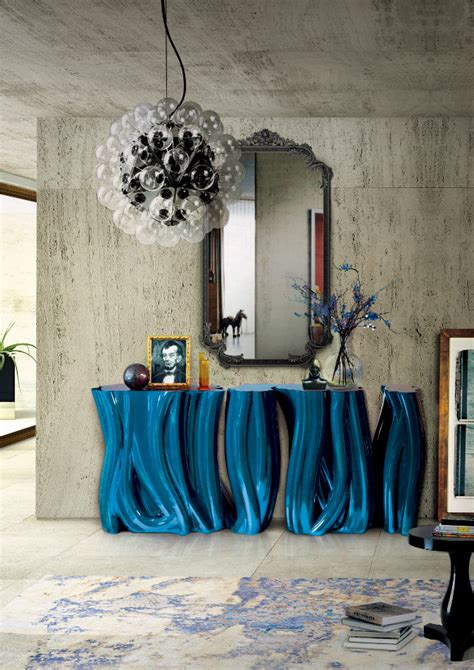 Colorful Entryway Table Colorful Console Tables
