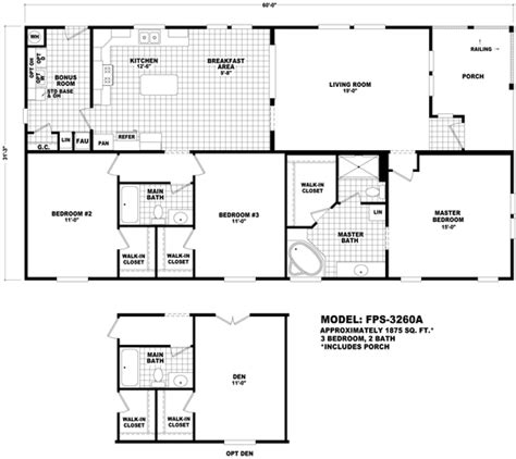 cavco floor plans floor plan fps 3260a front porch series durango homes
