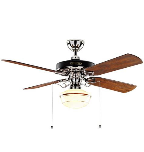 Ceiling Fan With Schoolhouse Light Giveaway Heron Ceiling Fan By Rejuvenation Bungalow Company