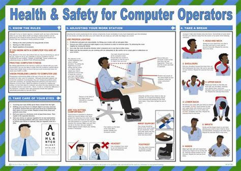printable hse poster h s for computer operators poster laminated 59cm x 42cm