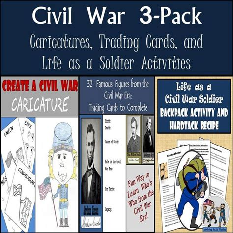 civil war trading card template 355 best surviving social studies images on
