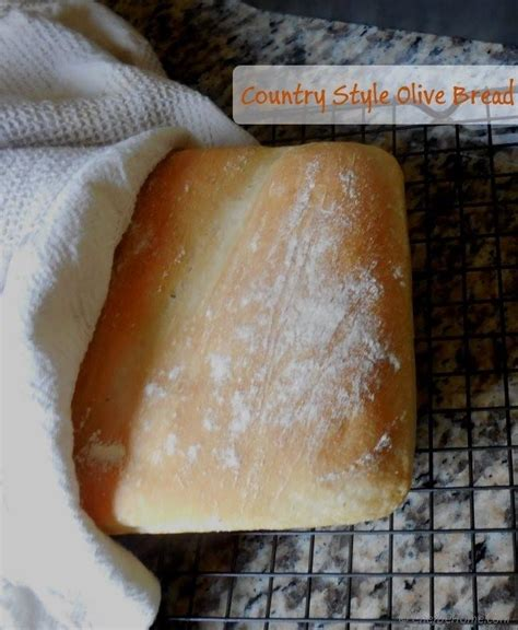 country style olives white bread recipe chefdehome - Country Style White Bread