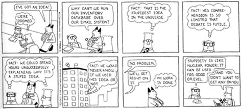 bad design software reviews silly saturdays dilbert and software architecture
