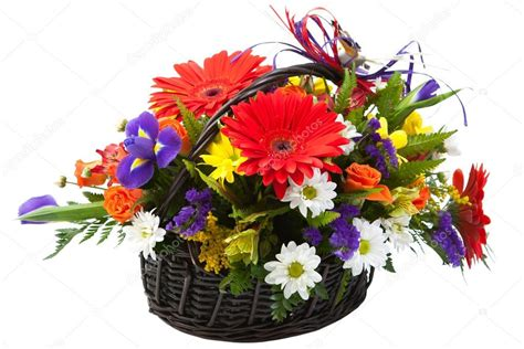 colorful spring flowers bouquet beautiful bouquet of colorful spring flower in a basket