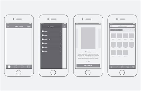 iphone app wireframe template iphone app wireframing kit medialoot