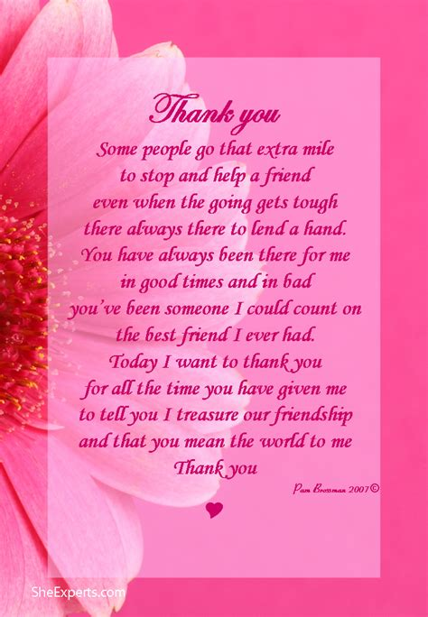 thank you letter to christian friend thank you for your friendship poem welcome to repin and