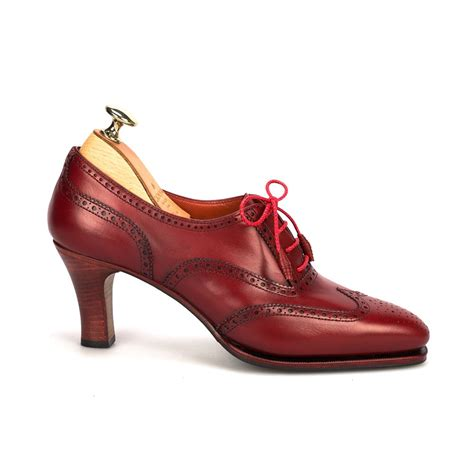 high heeled oxford shoes high heel oxford shoes in vitello