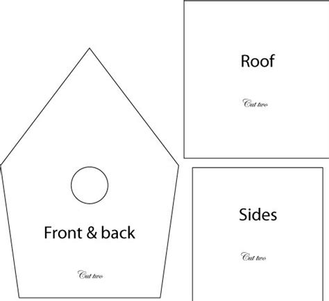 house pattern for kindergarten birdhouse template for wood of clay for the birds