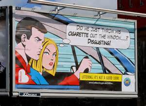 anti litter poster belfast  albert bridge geograph ireland