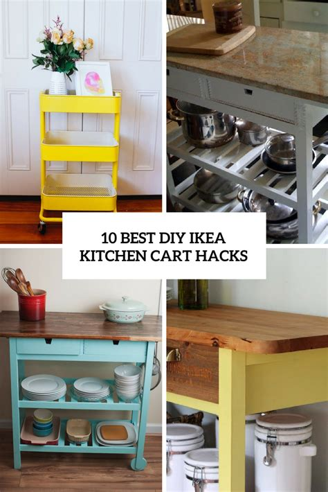 ikea stenstorp kitchen cart hack 17 steps with pictures