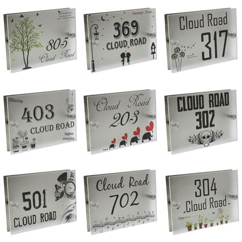 glass door numbers plaques aliexpress buy personalized modern house number door