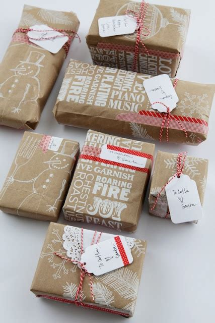 love brown paper my favorite gift wrap christmas pinterest