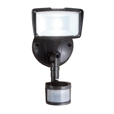 Motion Sensor Led Light Outdoor All Pro 110 Degree Bronze Motion Activated Sensor Outdoor Integrated Led Security Flood Light