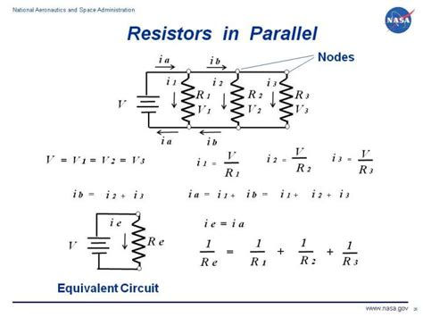 voltage of a capacitor and resistor in parallel resistors in parallel