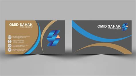 design grafis business card photoshop tutorial business card design by sahak youtube