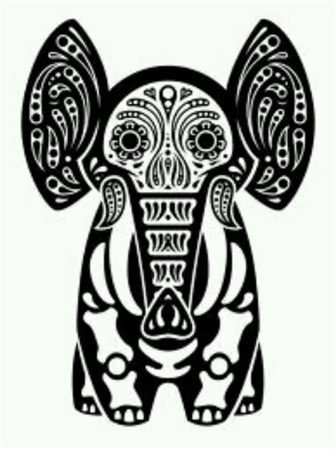 psychedelic elephant coloring pages american hippie psychedelic art elephant sugar skull