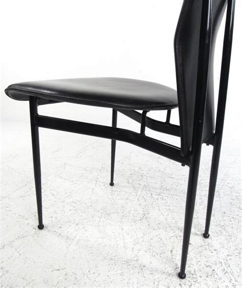 Italian Leather Dining Chairs Modern Set Of Contemporary Modern Italian Leather Dining Chairs By Fasem For Sale At 1stdibs