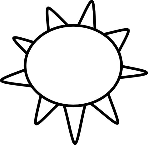 template of the sun sun outline clip at clker vector clip