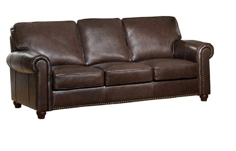 Brown Leather Sofa Furniture Barbara Top Grain Brown Leather Sofa Usa Furniture