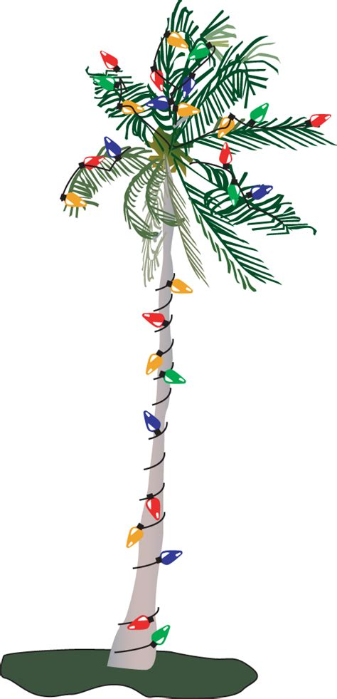 palm tree with christmas lights clipart clipartxtras