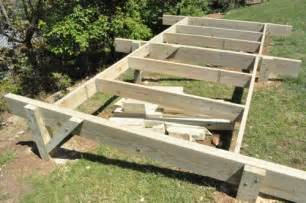 Roof Deck Plan Foundation How To Build A Post Beam Shed Foundation On A Slope