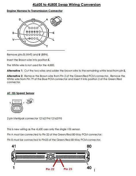 4l80e transmission wiring harness diagram get free image