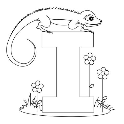 letter i is for iguana coloring page free printable i letter for iguana coloring page i letter for iguana