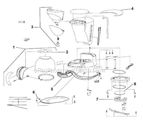 mr coffee parts diagram mr coffee ecx23 parts list and diagram