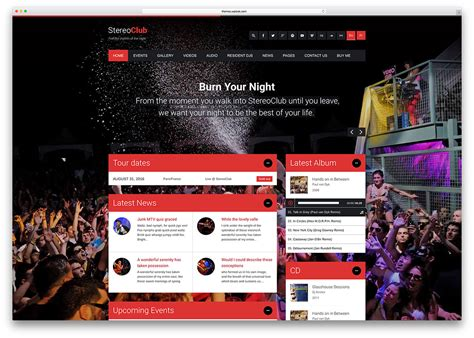 wordpress themes free club 24 of the best wordpress themes for musicians 2018 colorlib