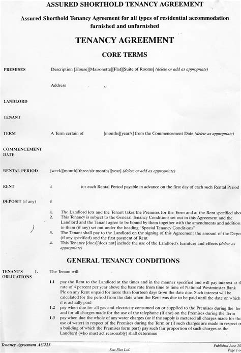 sublease agreement template australia reiq contract template weekend hd