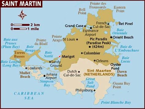 st martin map map of st martin