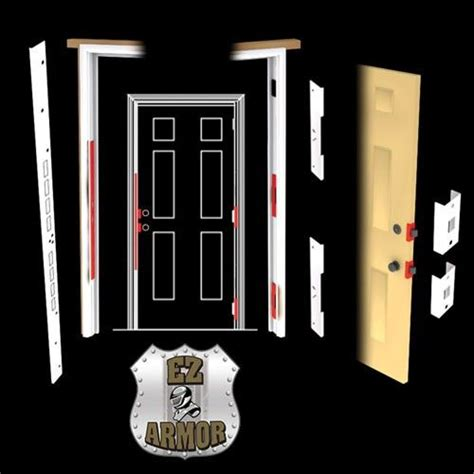 Prevent Front Door Kick In Stop Kick In Protect Yourhome With Ez Armor Combo Set Protects All A Door S Weak Points