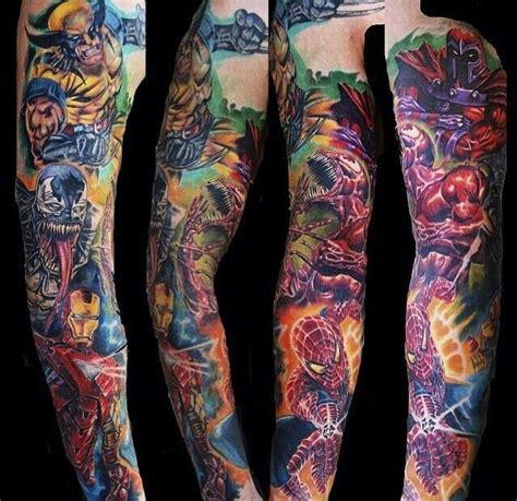 super hero tattoos sleeve ideas