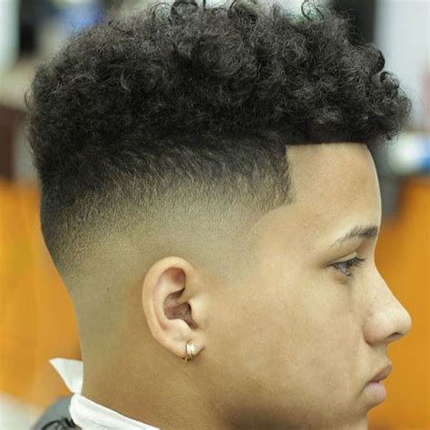 little boy fade with curls on top high top fade haircut men s hairstyles haircuts 2017