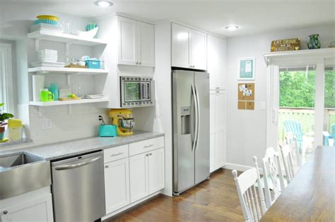Fridge In Pantry by Our Kitchen Renovation Recap Loving Here