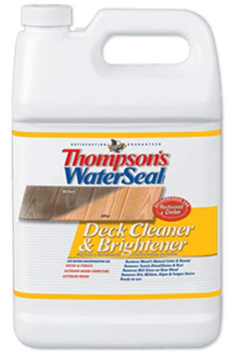 thompsons waterseal wood deck cleaner brightener