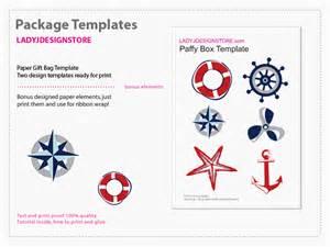 nautical template nautical paper gift box template nautical paper gift box