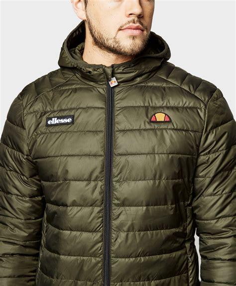 Ellesse Parka In Green ellesse lombardy padded jacket in green for lyst