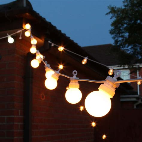 Festoon Outdoor Lights Outdoor Festoon Lights Connectable Warm White Leds Frosted Bulbs White Cable