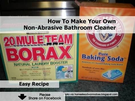 how to make your own non abrasive bathroom cleaner