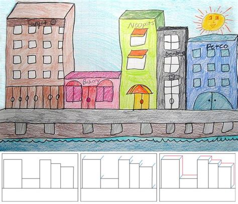 projects for how to draw city buildings 4 building city and