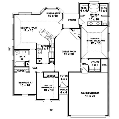 1 Story House Floor Plans by Hillary Mill One Story Home Plan 087d 1518 House Plans