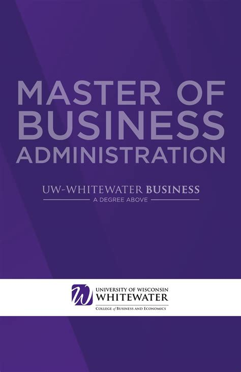 Uw Whitewater Mba Admissions by Of Wisconsin Whitewater Mba Brochure By