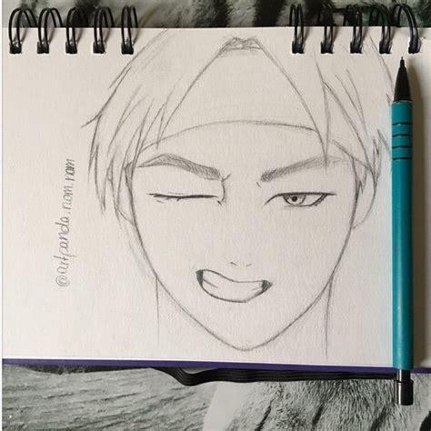 V Sketch Bts by Bts V Sketch Kpop Fanart Amino
